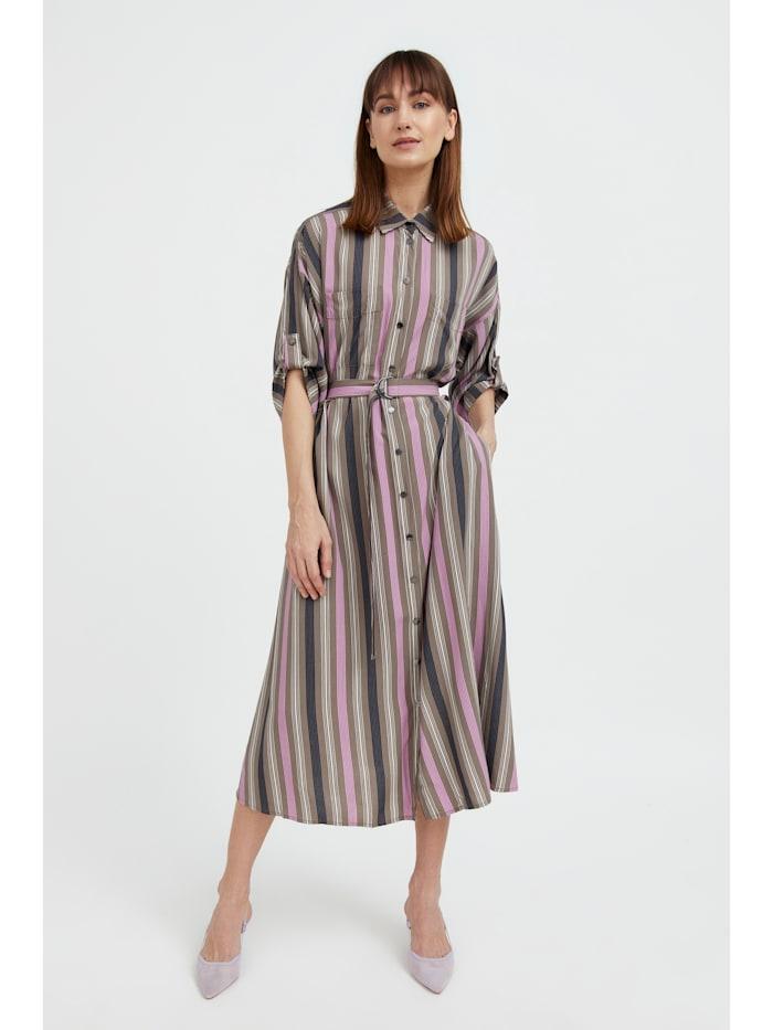 finn flare - Blusenkleid mit kurzen Ärmeln  light brown