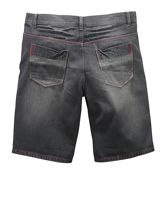 Jeansbermuda Men Plus Zwart