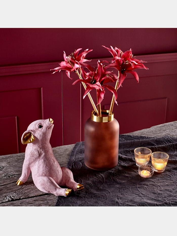 SpaarpotVarkentje Kare Design roze/goudkleur