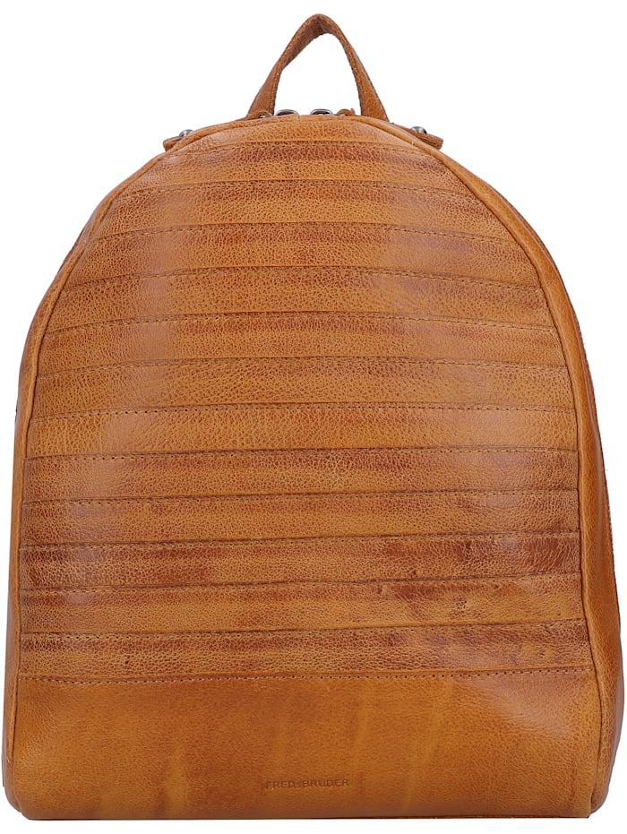 fredsbruder - Bebe City Rucksack Leder 30 cm  dark honey