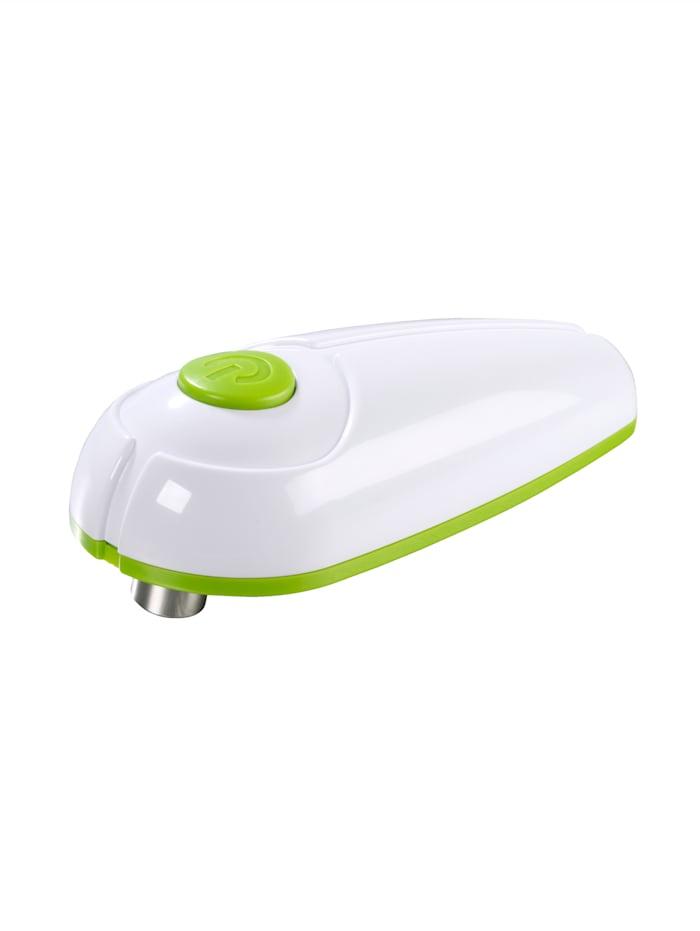 Elektrische blikopener GOURMETmaxx wit/groen