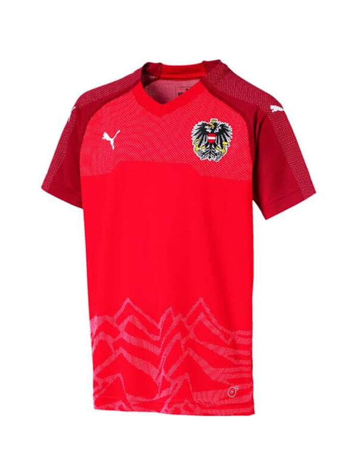 Image of Puma Fußballtrikot Fußballtrikot Austria Home R Puma Rot