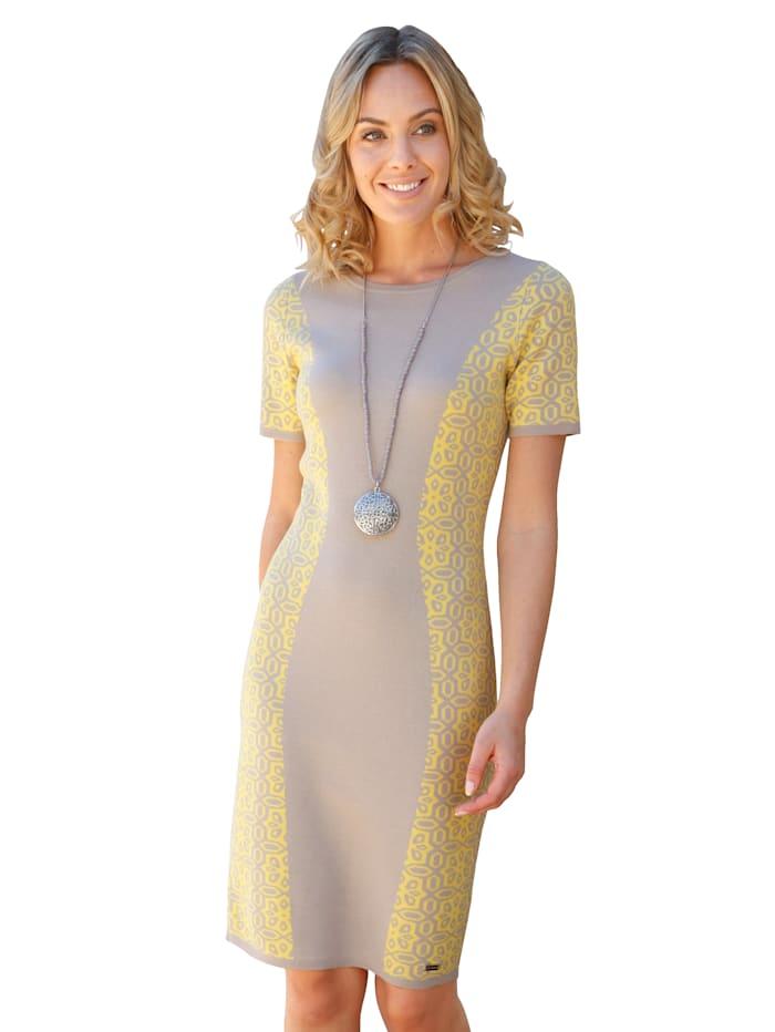 Gebreide jurk AMY VERMONT Geel::Taupe
