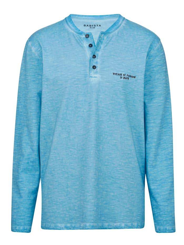 Henleyshirt BABISTA Turquoise