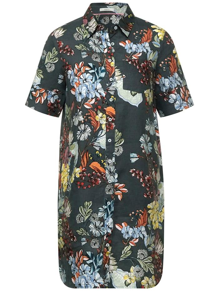 cecil - Kleid mit Blumen Muster  slate green