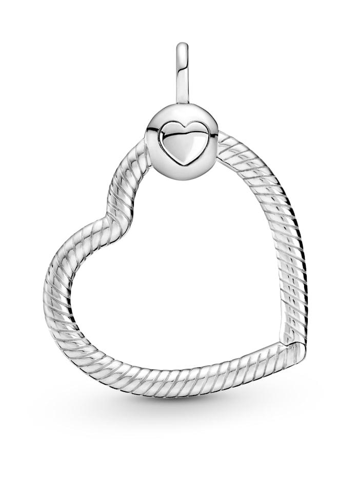 pandora - Herz-Anhänger  Silberfarben