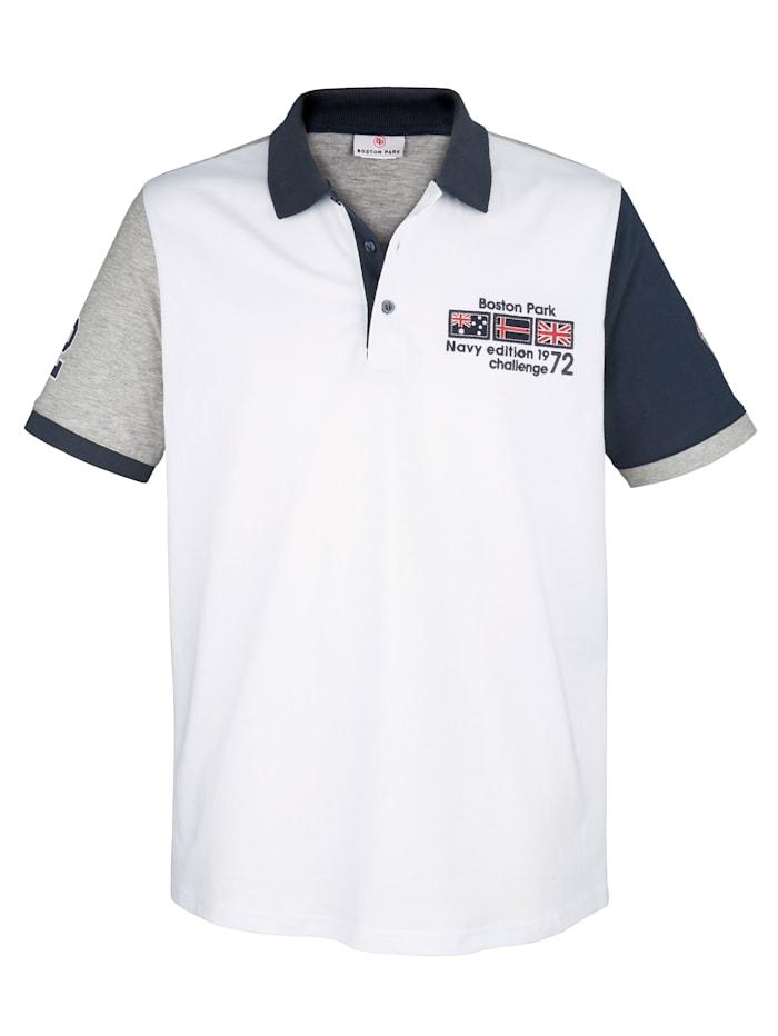 Poloshirt Boston Park Wit::Marine