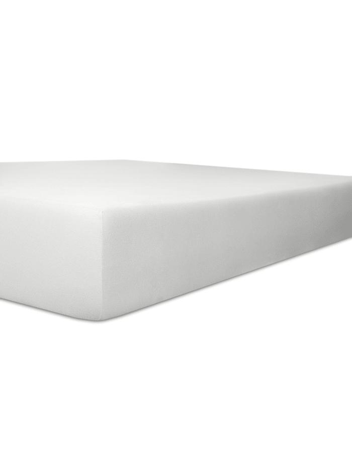 Kneer Spannbetttuch FEIN-JERSEY Q50 kneer weiß