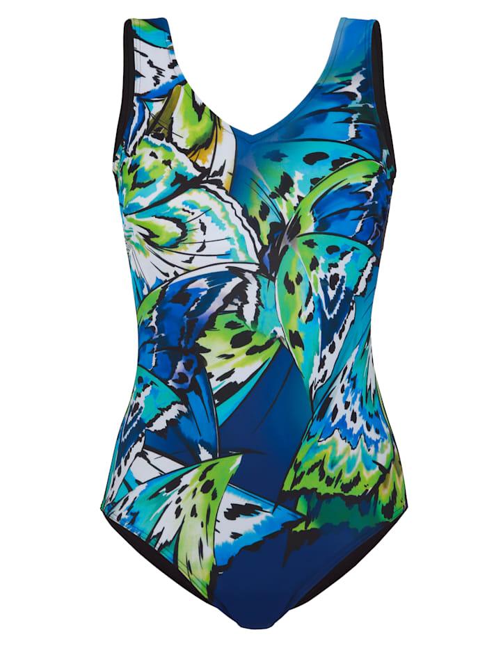 Badpak Schwab Bademoden Royal blue::Groen::Wit