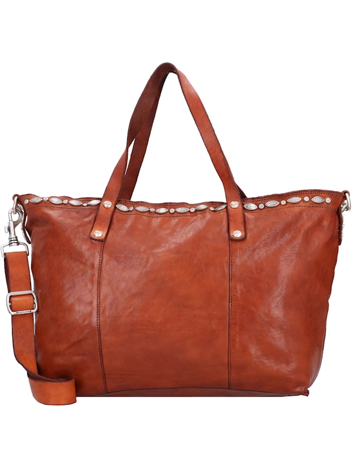 campomaggi - Shopper Tasche Leder 36,5 cm  cognac