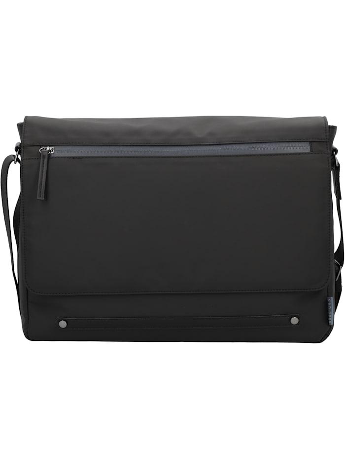 d&n - Basic Line Messenger 40 cm Laptopfach  schwarz