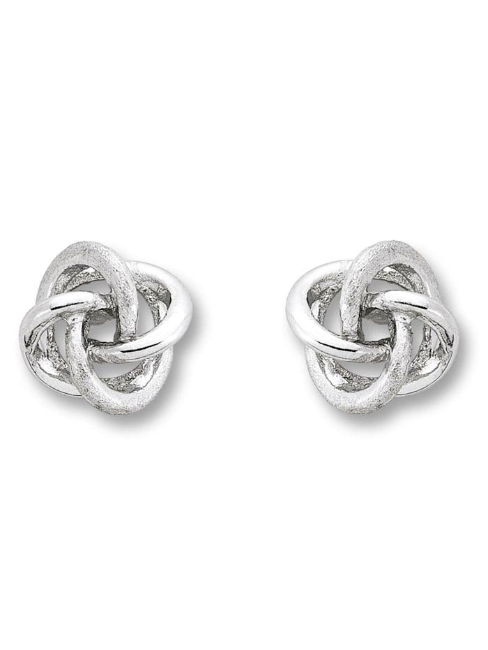 one element - Damen Schmuck Ohrringe / Ohrstecker Knoten aus 925 Silber  silber