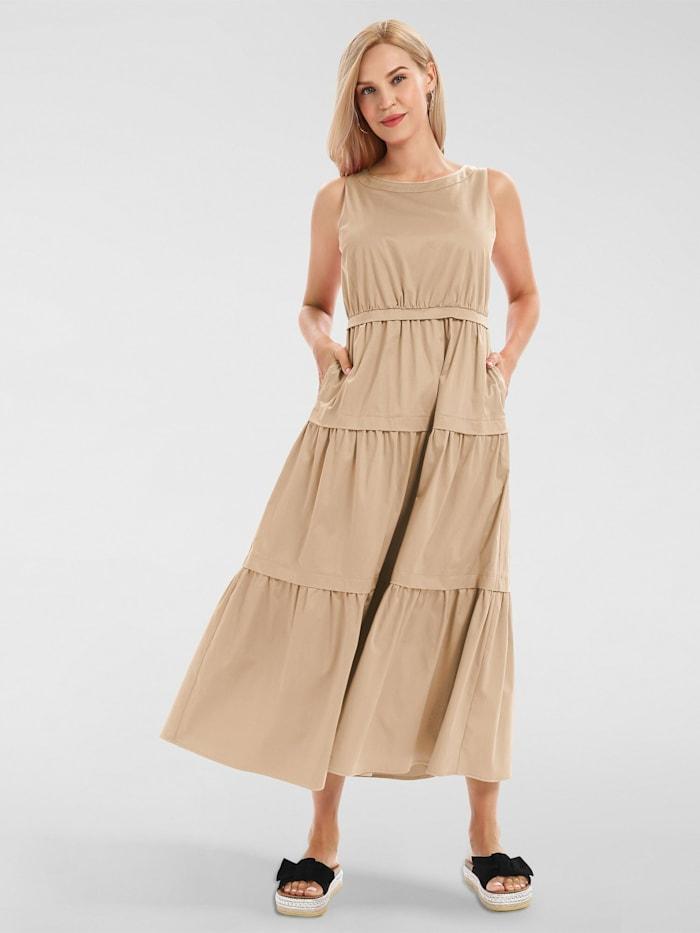apart - Sommerkleid aus Baumwoll-Satin  beige