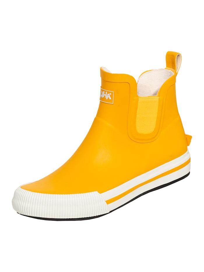 saliha - Stiefel Damen-Halbstiefel Momo  gelb/weiß