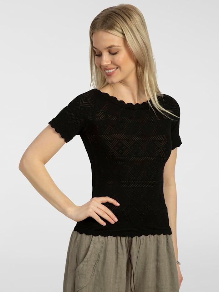 apart - Pullover mit Bogenkanten  schwarz
