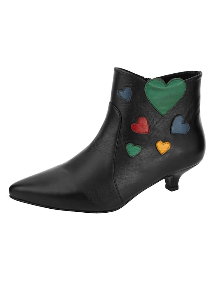 Image of Ankle Boot Gemini Schwarz::Multicolor