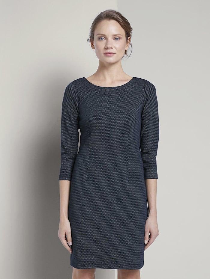 tom tailor - strukturiertes Kleid  navy dotted fabric