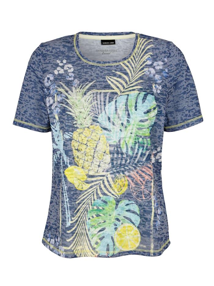 Shirt Barbara Lebek Marine::Geel