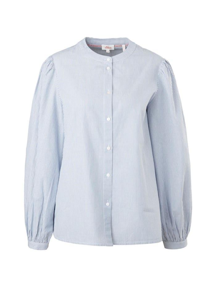 s. oliver junior -  Bluse Gestreifte Bluse mit weiten  Hellblau