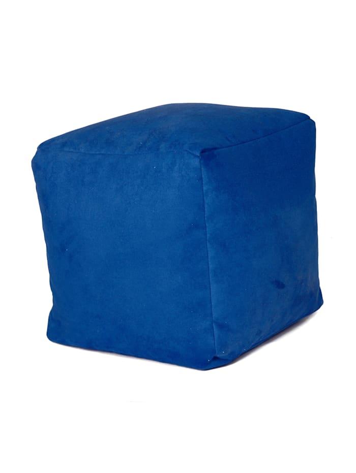 Sitzwürfel Hocker Würfelhocker Einzelhocker uni 40x40x40 cm Linke Licardo royal-blau
