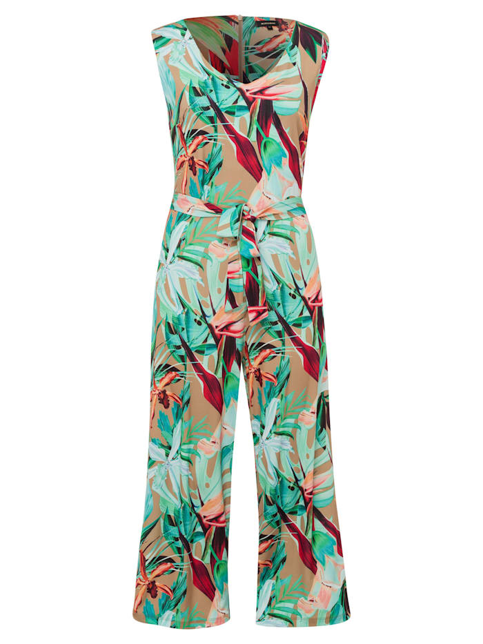 more & more - Jersey-Jumpsuit, tropical leaf  grün