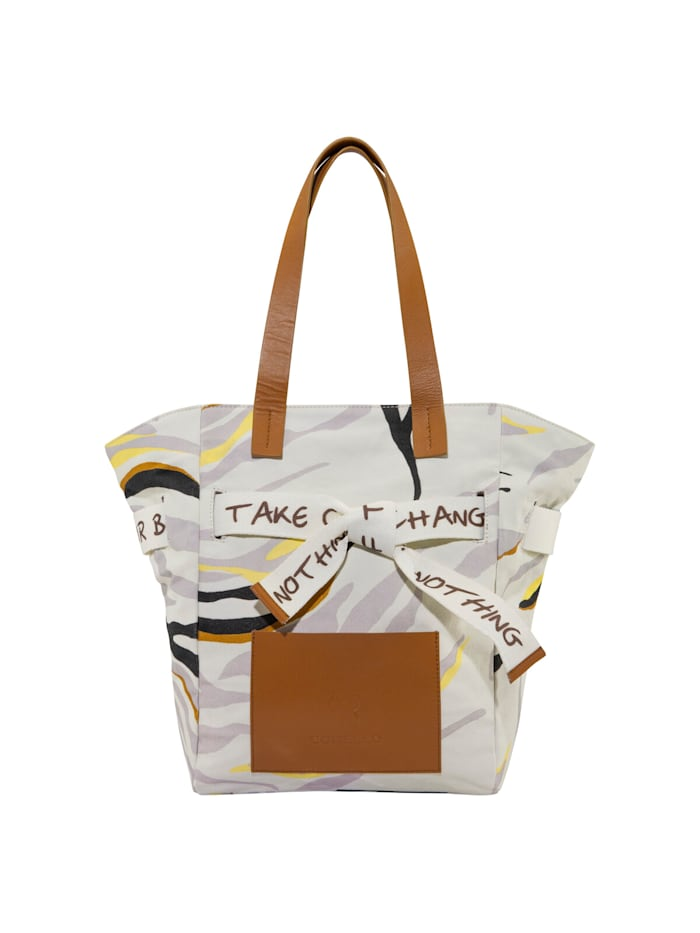 codello - Canvas-Shopper mit Tiger-Print  beige