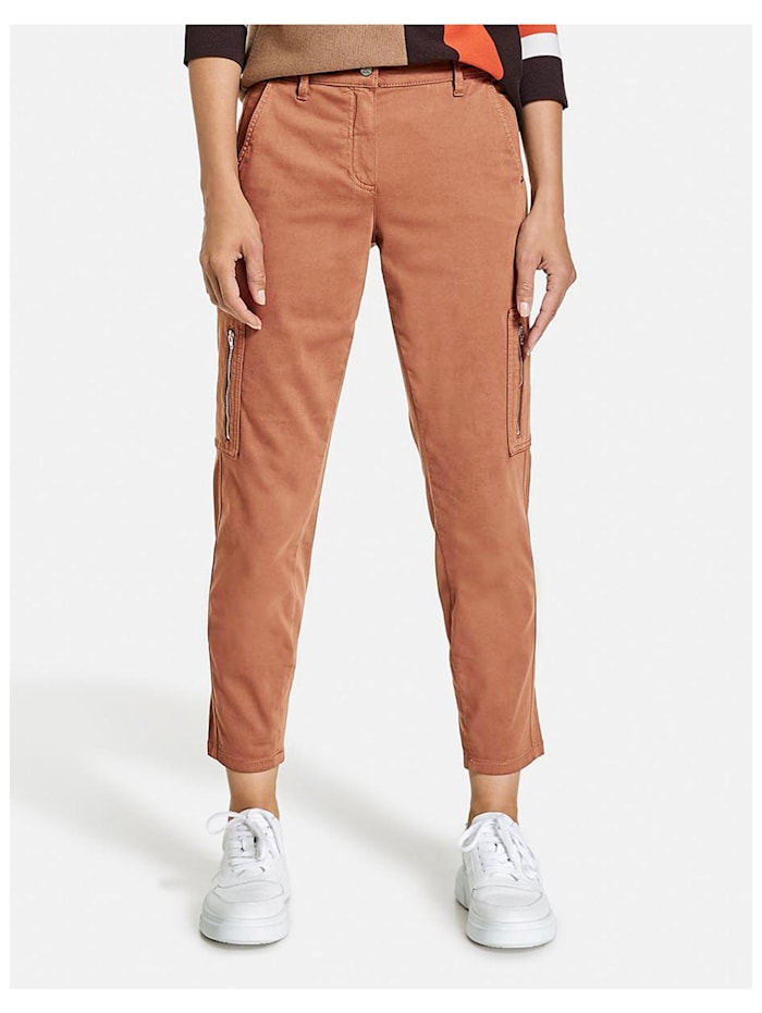 gerry weber - Cargohose Best4me Cropped Organic Cotton  Toffee