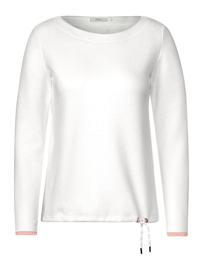 cecil - Langarmshirt mit Struktur  pure off white