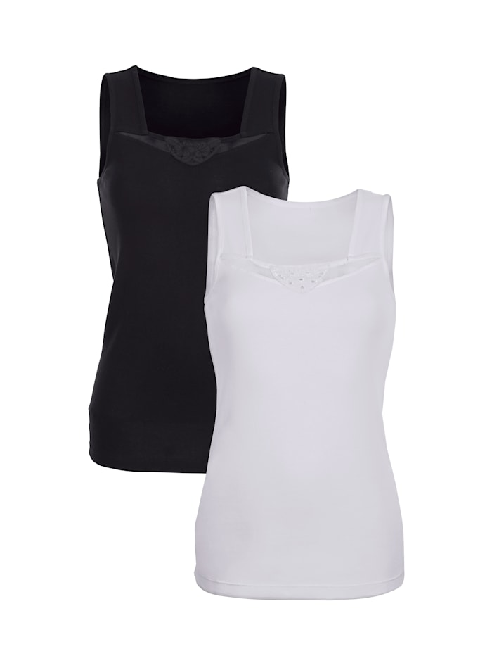 Chemisettes Harmony 1x blanc, 1x noir