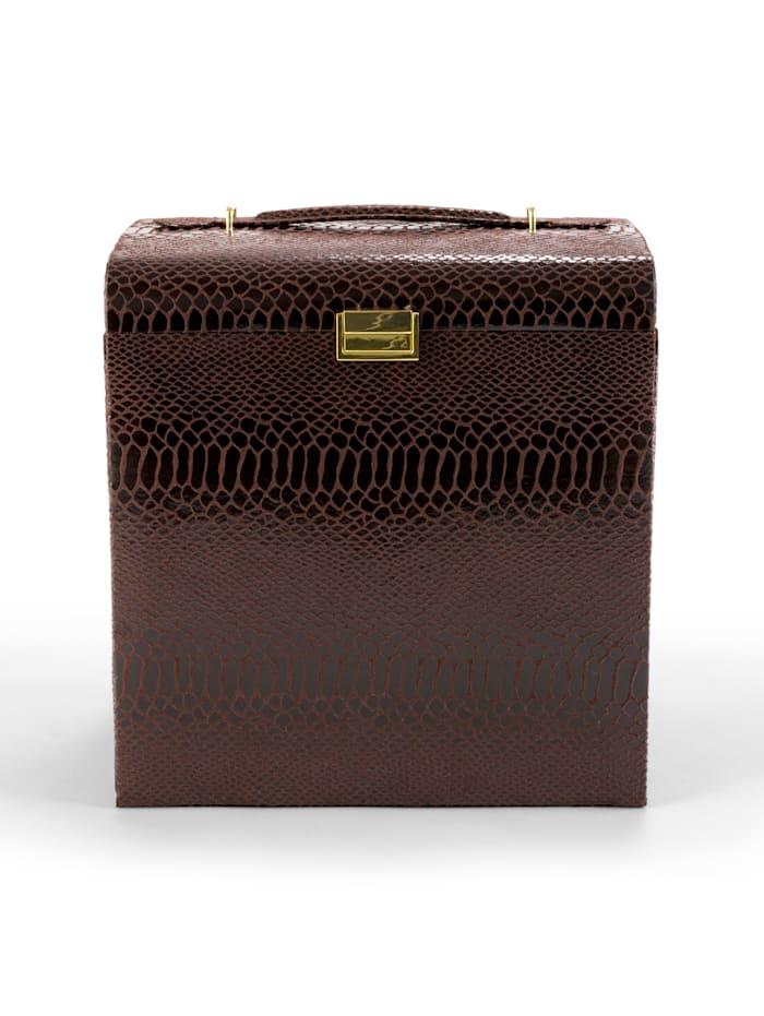 Sieradenkoffer Golden Style Bruin