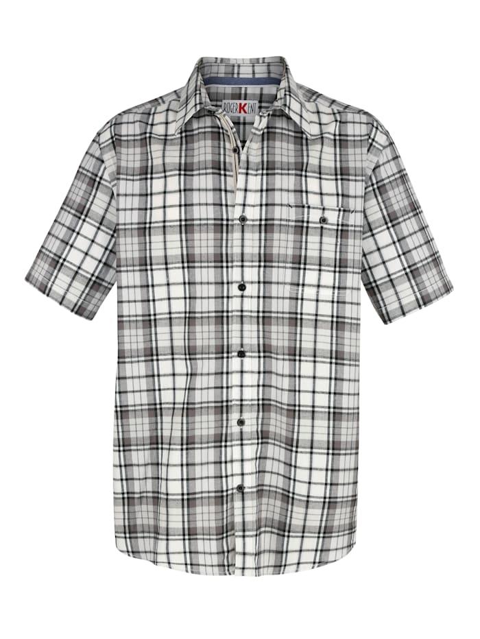 Overhemd Roger Kent Ecru::Grijs::Zwart