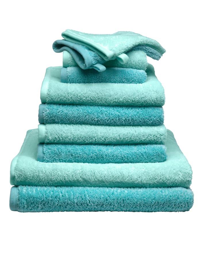 10-delige handdoekenset Berlin Webschatz mint/turquoise