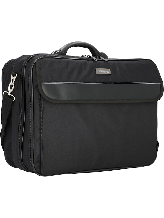 lightpak - Corniche Aktentasche 44 cm Laptopfach  schwarz