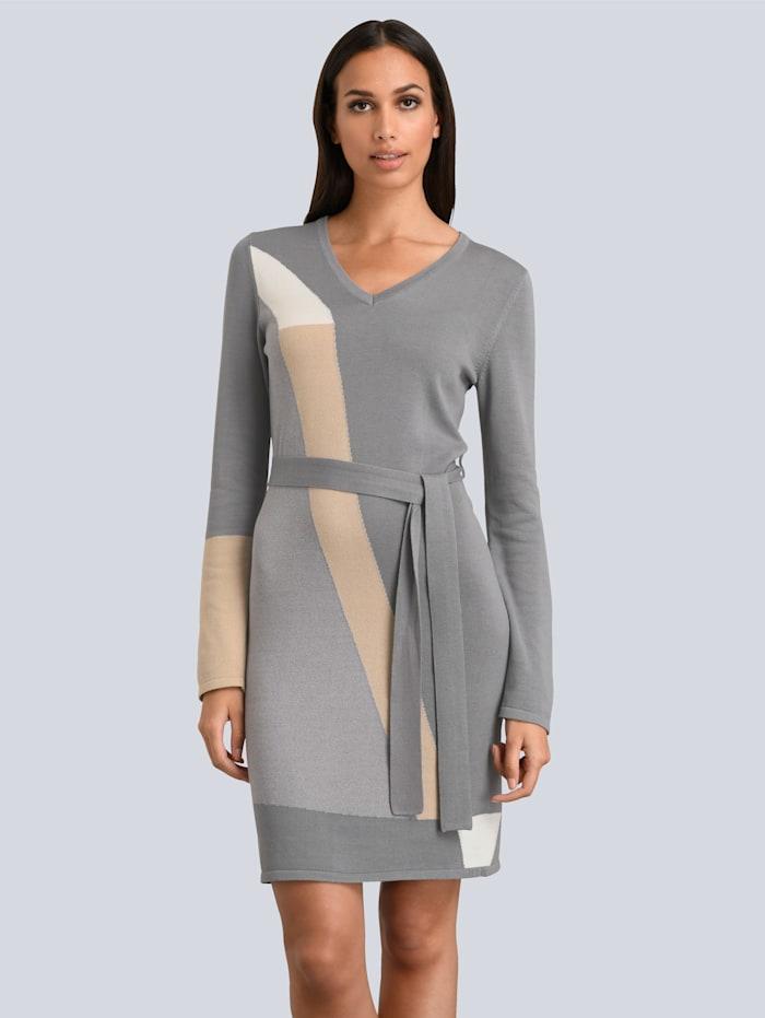 alba moda - Kleid  Grau::Beige::Off-white