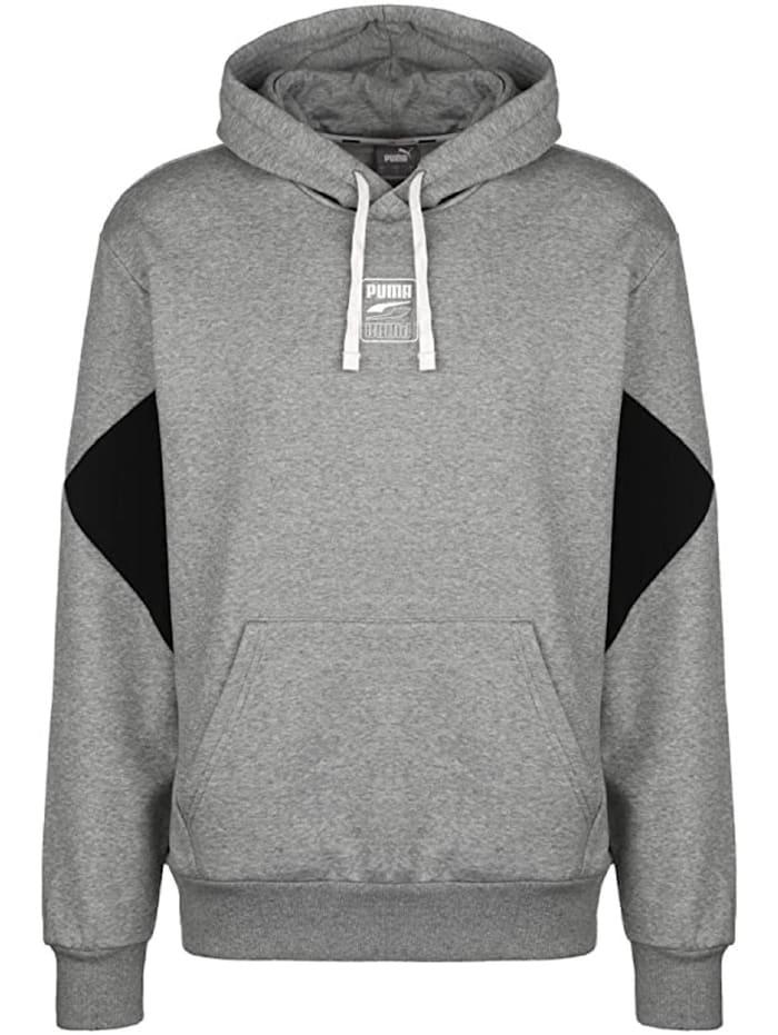 puma -  Hoodie Rebel Hoodie S Logo FL  Grau