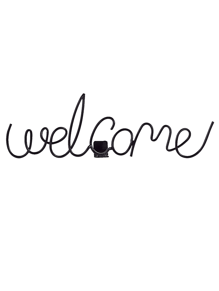 Schriftzug Welcome, Impressionen living Info