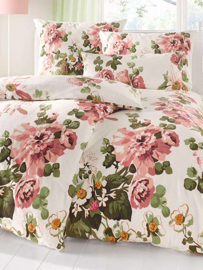 Bedlinnen Dorothea Webschatz ecru/roze
