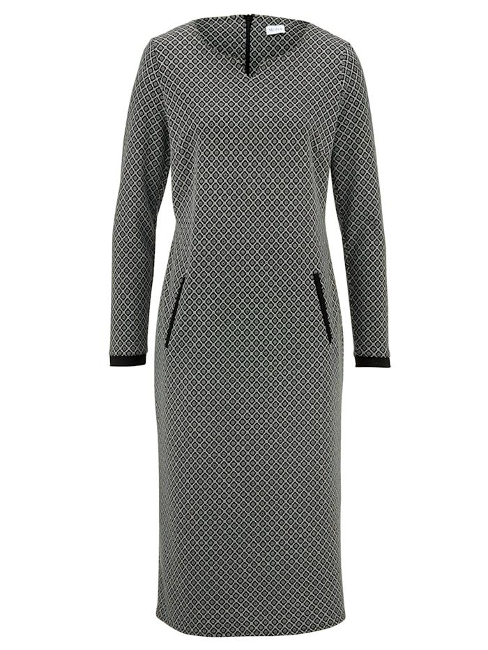 Jersey jurk MONA Zwart::Wit