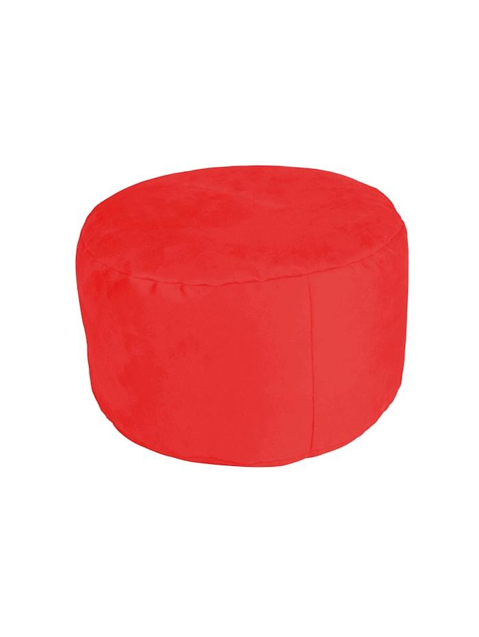 Sitzkissen Hocker Pouf Ø47/34 cm Linke Licardo rot