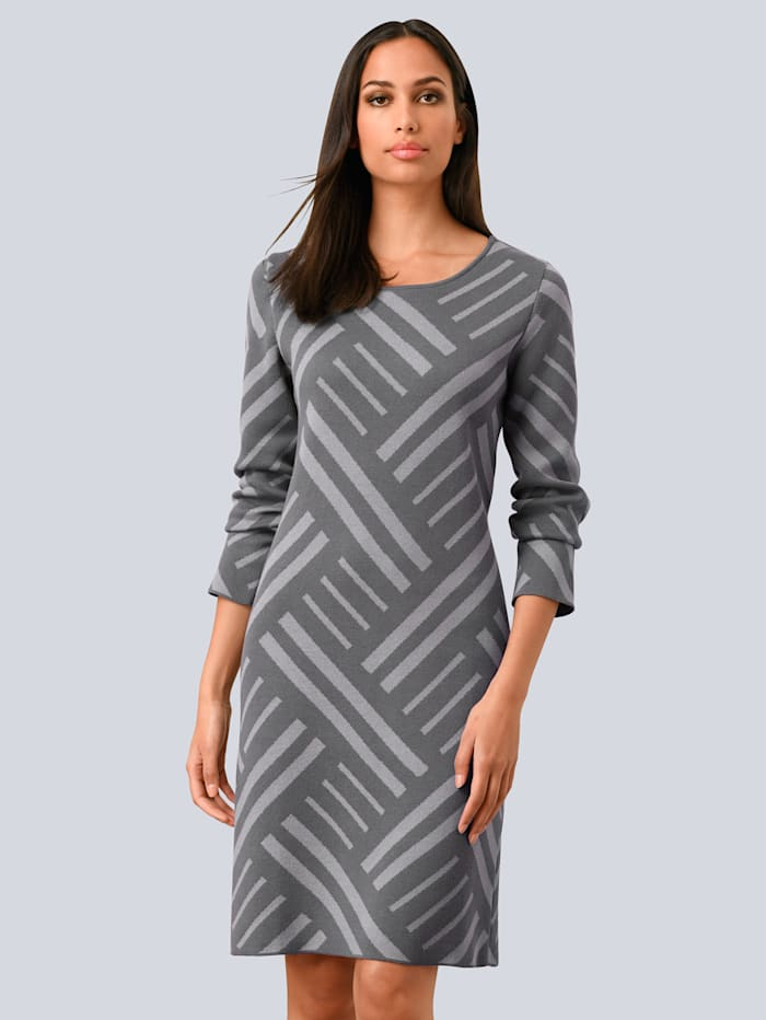alba moda - Strickkleid  Grau