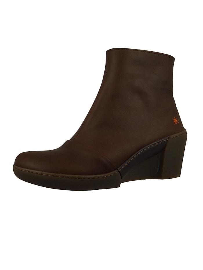 *art - Damen Keil-Stiefelette Ankle Boot Rotterdam Brown Braun 1561  Brown
