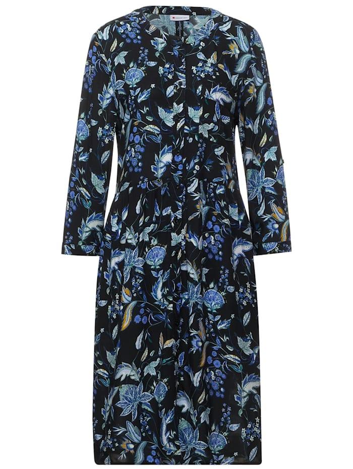street one - Kleid mit Blumen Muster  Black