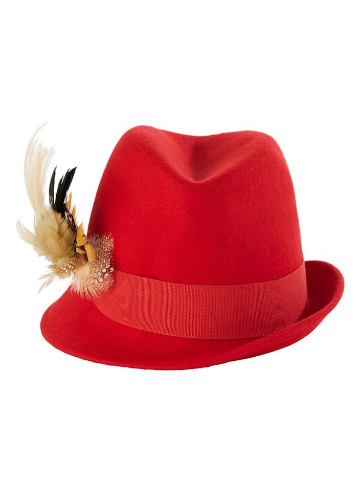 Sara lindholm Tiroler hoed  rood