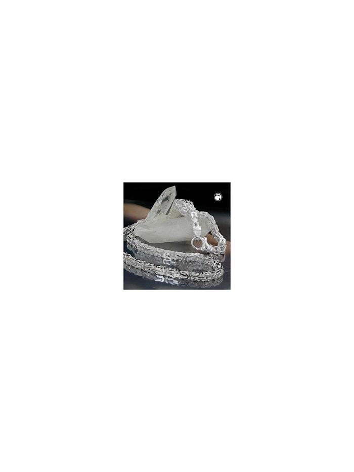 gallay schmuckgroßhandel - Kette ca.5mm Königskette vierkant glänzend Silber 925 50cm  silber