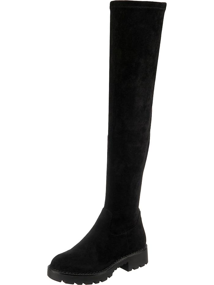 buffalo - Myrna Overknee-Stiefel  schwarz