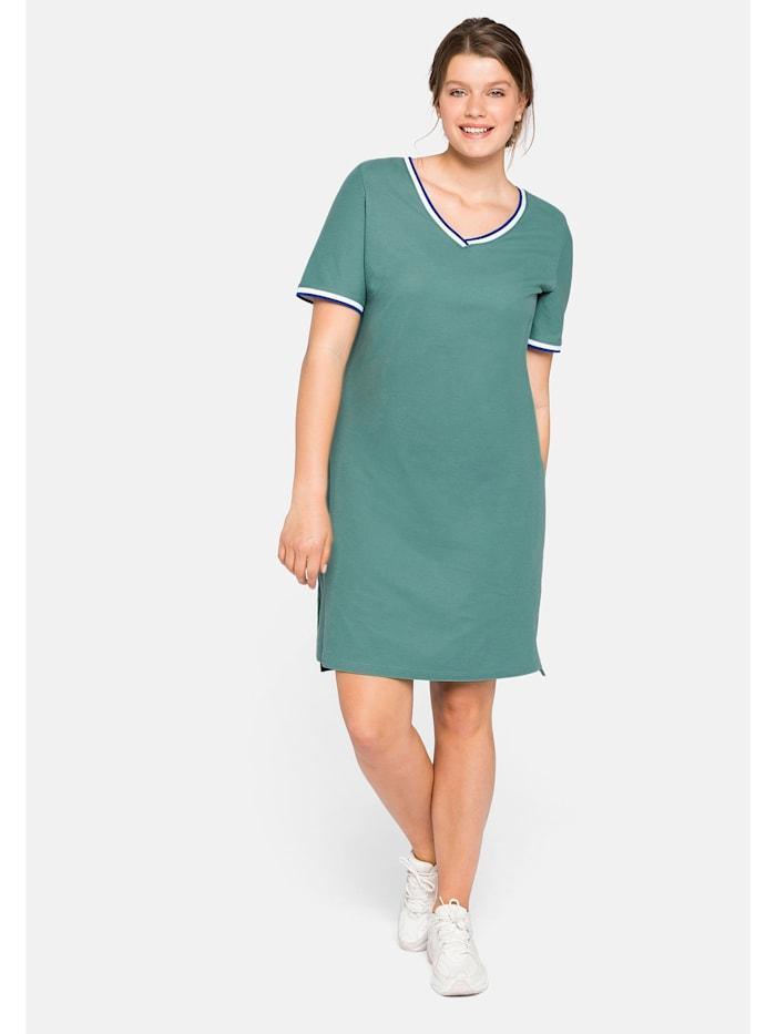 sheego -  Kleid  rauchgrün