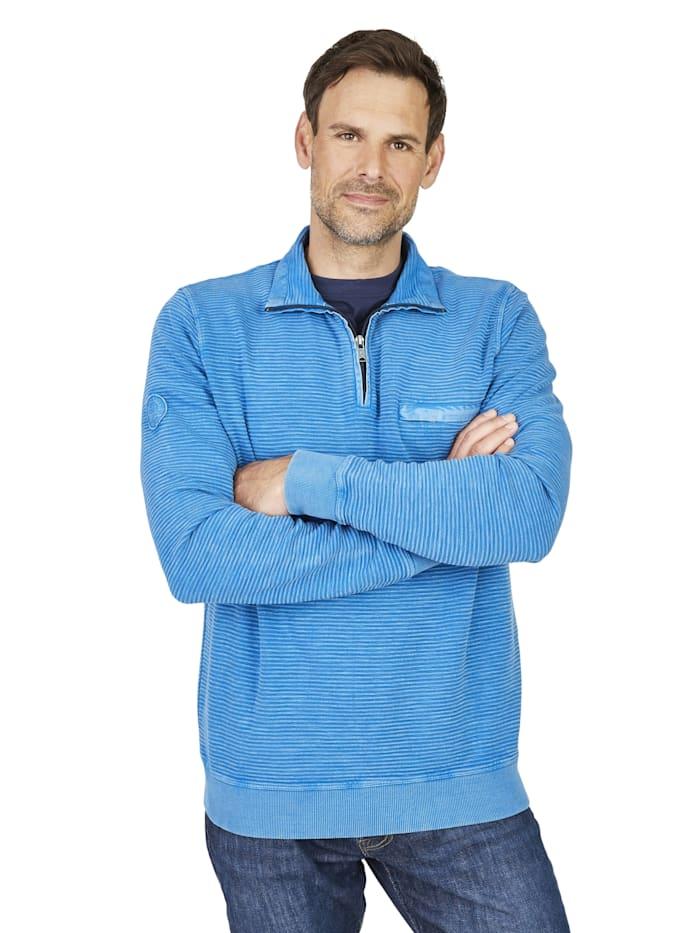 V-Pullover Hajo blau