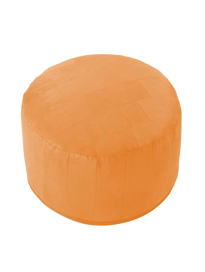 Sitzkissen Hocker Patchwork Ø 50/34 cm Linke Licardo light-orange
