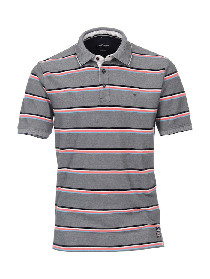 casamoda - Polo-Shirt andere Muster  Weißblau