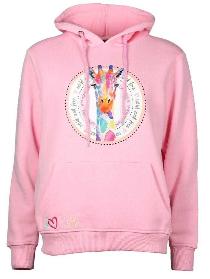 zwillingsherz - Hoodie Giraffe  rosa